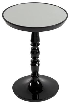 Cooper Classics 630Table Side Table with Mirrored Glass Top