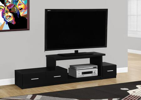 "Monarch I 267X 72"" TV Stand with Open Concept Storage, Asymmetrical Design and Three Drawers"