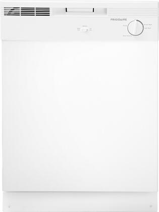 """Frigidaire FBD2400KW 24"""" Built In Full Console Dishwasher with 12 Place Settings Place Settingin White"""