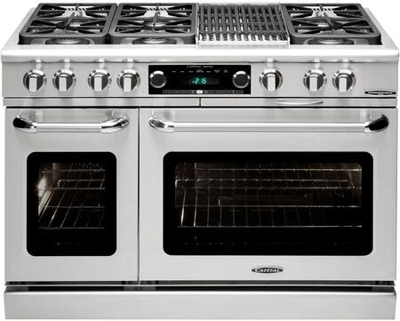 Capital CSB484B2N Connoisseurian Series Gas Freestanding Range with Sealed Burner Cooktop, 4.6 cu. ft. Primary Oven Capacity, in Stainless Steel
