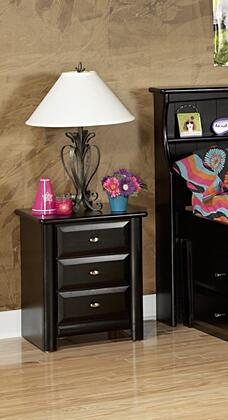 """Chelsea Home Furniture 3534538-X 21"""" Nightstand with 3 Drawers, Rustic Style, and All Pine Wood Construction"""