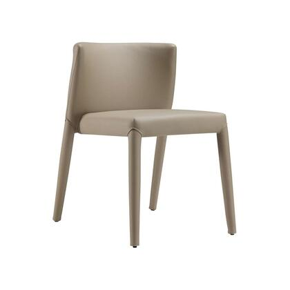"Casabianca Spago Collection CB-F3177 29"" Dining Chair with Eco-Leather Upholstery, Stitched Detailing and Metal Legs in"