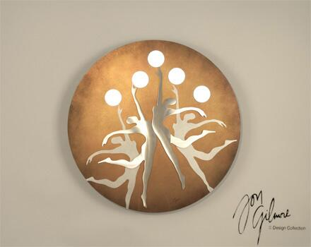 Picture of WGL3600 Circles of Light Wall Art in Bronze and Copper
