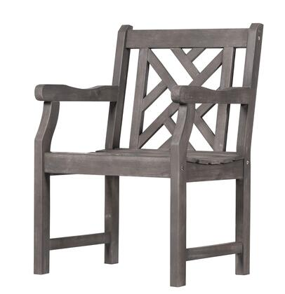 Vifah V1301  Wood Frame  Patio Arm Chair