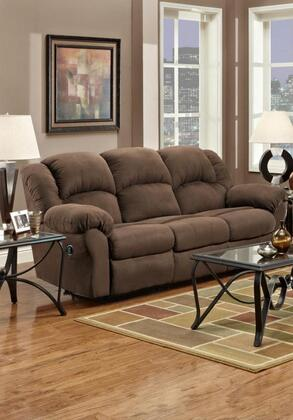 Chelsea Home Furniture 1003 Verona IV Ambrose Reclining Sofa, with 1.8 Density Foam Cushion, Toggle Push Button Mechanism, and Upholstered