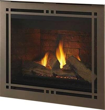 """Majestic DBDV42PLATIx 48"""" Meridian Series Fireplace with 42"""" Viewing Area, 40500 BTU and Intellifire Plus IPI Ignition System"""