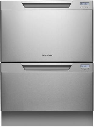 """Fisher Paykel DD24DCX7 24"""" DishDrawer Series Drawers Semi-Integrated Dishwasher 