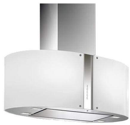 Futuro Futuro ISMURGLOW Murano Glow Island Mount Chimney Style Range Hood with 940 CFM Internal Blower, Halogen Lighting, Dishwasher-safe Mesh Filter, and Delay Shut-Off Timer, in Stainless Steel