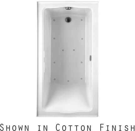 Toto ABR782L12NX Clayton Series Drop-In Airbath Tub with Acryclic Construction and Slip-Resistant Surface, Sedona Beige Finish