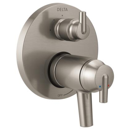 Trinsic T27T859-SS Delta Trinsic: Contemporary TempAssure 17T Series Valve Trim with 3-Setting Integrated Diverter in Stainless