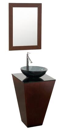 Wyndham Collection WCSCS004ESSM WCSCS004ESSM Single Vanity Set with Smoke Glass Counter, Single-Hole Faucet Mount & Matching Mirror in Espresso Finish