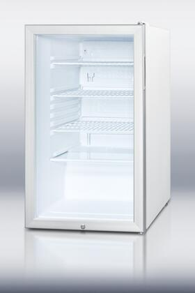 """Summit SCR450LBI7 20"""" SCR450LBI7 Series Freestanding Counter Depth Compact Refrigerator with 4.1 cu. ft. Capacity, 3 Wire Shelves"""