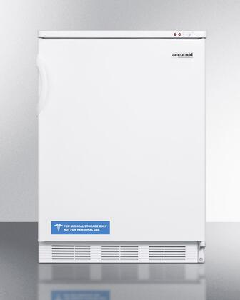 "Summit VT6 AccuCold 24"" Upright Freezer with 3.5 cu. ft. Capacity, Three Storage Baskets, Adjustable Thermostat, Manual Defrost and 100% CFC Free in X"