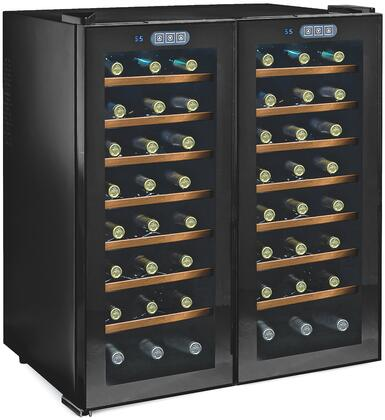 Picture of 272480351W Thermoelectric Energy Efficient Dual Zone Wine Cooler with 48 Bottle Capacity  Silent Cooling Technology  Wood Front Shelves  and LED Lighting