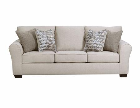 Simmons Upholstery 165703bostonlinen Boston Series Stationary Fabric