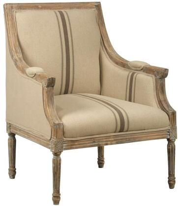 "Jofran Mckenna Collection MCKENNA-CH-X 29"" Accent Chair With Sinuous Spring and Webbing, French Detail On Frame and Birch Frame in"