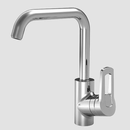 Picture of 10.041.013.127 Single-hole single side-lever kitchen mixer with high right-angle swivel spout in Splendure Stainless