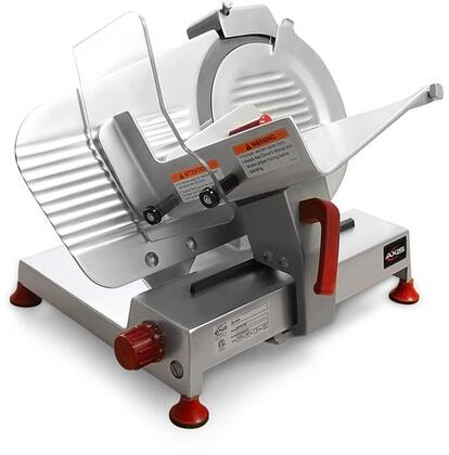 """Axis AXSxULTRA Meat Slicer with """" Blade Size, Built-in Top Mounted Sharpener, Microswitch Protection on Cover Blade, Thermo-Protection, in Stainless Steel"""