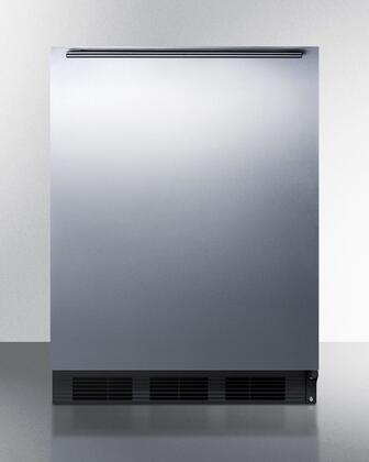 "AccuCold BI541BSSXX 24"" Dual Evaporator Undercounter Compact Refrigerator with 5.1 cu. ft. Capacity, 2 Adjustable Glass Shelves, Cycle Defrost, and Adjustable Thermostat: Stainless Steel"