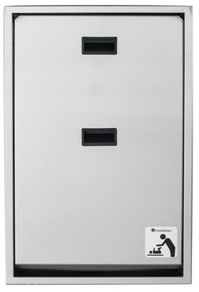 "Foundations Legacy Collection 100SSV-XX 34"" Changing Station Vertical Mount with Plastic Covered Edges, Full Stainless Steel Frame and Hinges"