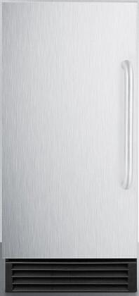 """Summit 14.5"""" Commercial Ice Maker with Energy Star, Automatic Defrost, Reversible Door and 25 lbs. Storage Capacity"""