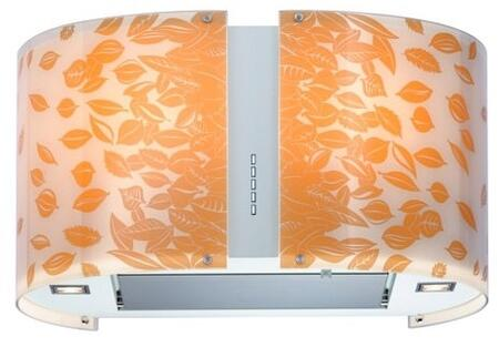 """Futuro Futuro ISxMURAUTUMNLED """" Murano Autumn Series Range Hood with 940 CFM, 4-Speed Electronic Controls, Delayed Shut-Off, Filter Cleaning Reminder, Internal Whisper-Quiet Tangential Blower, and in Stainless Steel"""