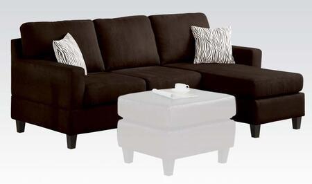 Acme Furniture 05907W Vogue Series Sectional Sofa Microfiber Sofa