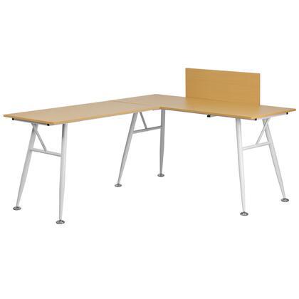 Flash Furniture NAN-WK-110 Beech Laminate L Desk