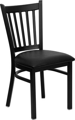 """Flash Furniture HERCULES Series XU-DG-6Q2B-VRT-XXV-GG 18.5"""" Heavy Duty Vertical Back Metal Restaurant Chair with Vinyl Seat, Commercial Design, 18 Gauge Steel Frame, and Welded Joint Assembly"""