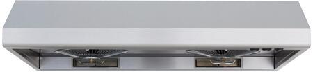 "Windster WS-55XXSS XX"" Standard Under Cabinet Range Hood With 680 CFM, 5.4 Sones, Dishwasher Safe Oil Collectors, Compact Fluorescent Lighting, Two Speeds, 6"" Vertical Duct, In  Stainless Steel"