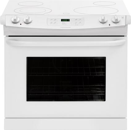 "Frigidaire FFED3025PW 30"" Drop-In Electric Range with Smoothtop Cooktop, 4.6 cu. ft. Primary Oven Capacity, in White"