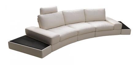 VIG Furniture VGKK1295BMWHT Divani Casa Lilac Series Stationary Leather Sofa