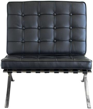 """Diamond Sofa Cordoba CORDOBADC 35"""" Set of 2 Dining Chairs with Stainless Steel Frame, Grid Pattern Design and Bonded Leather Upholstery in"""