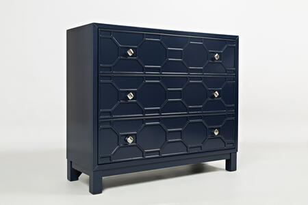 "Jofran Matrix Collection 1440 40"" Accent Chest with Bold colors, Sleek Finish and Full Extension Drawers"