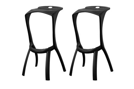 Wholesale Interiors BS207BLACK Zinley Series  Bar Stool