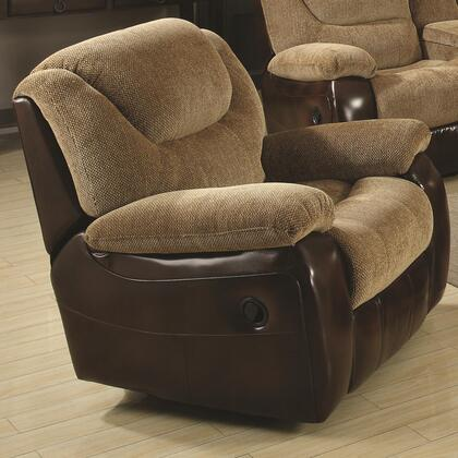 Coaster 600923 Malena Series Casual Fabric Wood Frame Rocking Recliners