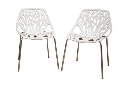 Wholesale Interiors DC-451 Birch Sapling Plastic Accent / Dining Chair (Set of 2):