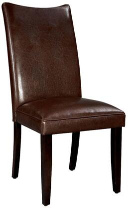 Standard Furniture 19976 La Jolla Series Contemporary Faux Leather Wood Frame Dining Room Chair