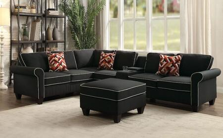Acme Furniture 542404144 Kelliava Series Stationary Fabric Sofa
