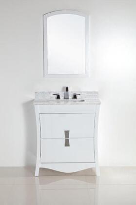 Bellaterra Home 500701 Vanity and Mirror Set