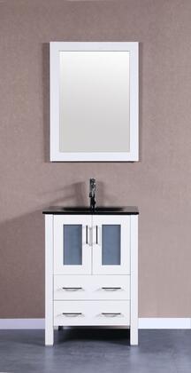 Bosconi Bosconi Single Vanity with Soft Closing Doors in White