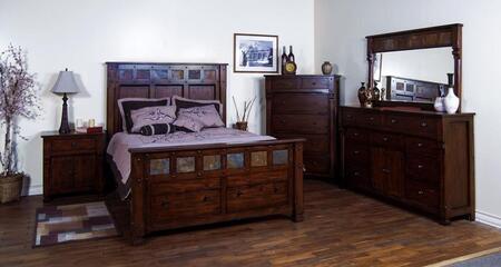 Sunny Designs 2322DCCKBDMN Santa Fe California King Bedroom