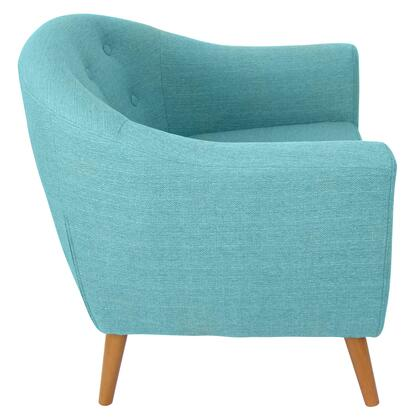 """LumiSource Rockwell CHR-AH-RKWL 30"""" Chair with Fabric Upholstery, Wood Legs and Button-Tufted Back in"""