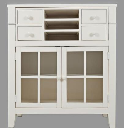 "Jofran Avery Collection 160X-38 38""  Accent Desk with, Four Drawers, Three Shelves, and Two Glass Doors in XX"