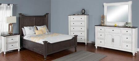 Sunny Designs 2308ECQBDMNC Carriage House Queen Bedroom Sets