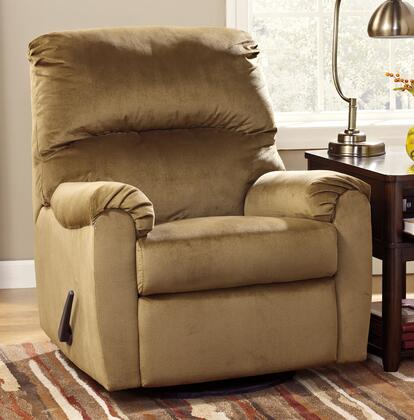 Signature Design by Ashley McFarin 5500X61 Swivel Glider Recliner with 360 Degree Swivel Base, Supportive Divided Back and Plush Padded Arms in