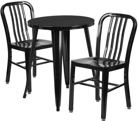 Flash Furniture CH51080TH218VRTBKGG Industrial Round Shape Patio Sets