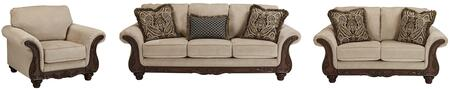 Milo Italia MI7757SLACPEBB Denzel Living Room Sets