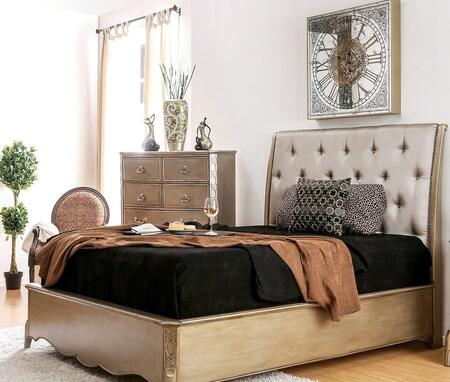 Furniture of America CM7432QBED Celine Series  Queen Size Bed