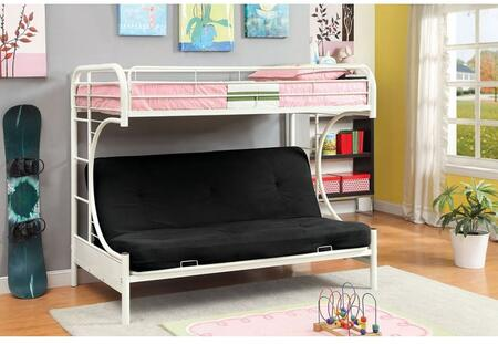 Furniture of America CMBK1034WHBED Rainbow Series  Twin Size Bunk Bed